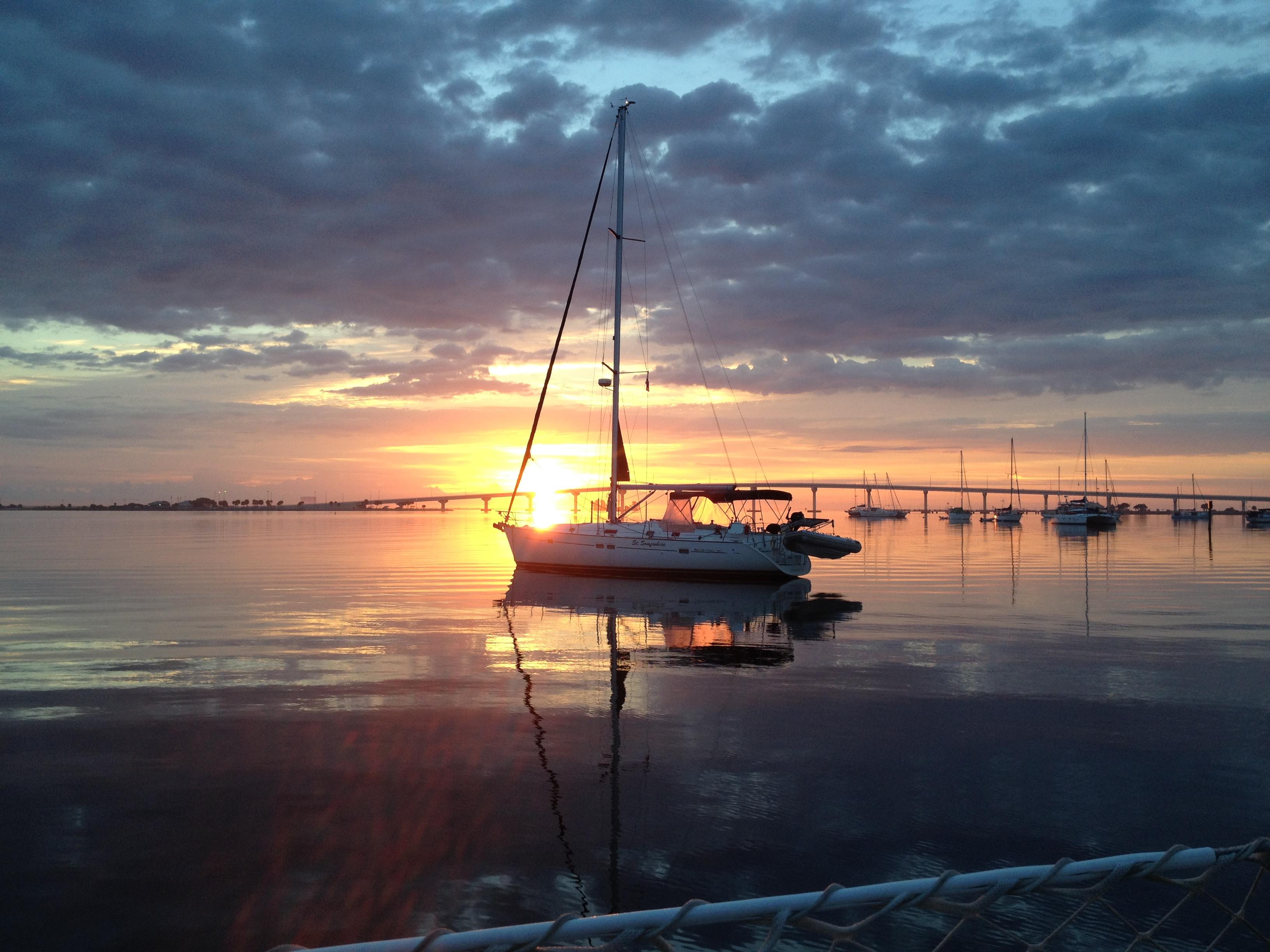 Titusville, FL Mooring field dawn 2