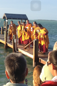 The Mandala sand dispersal ceremony, Key Largo 2016